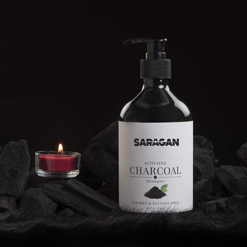 Saragan Pure Activated Charcoal Shampoo for Oily Hair