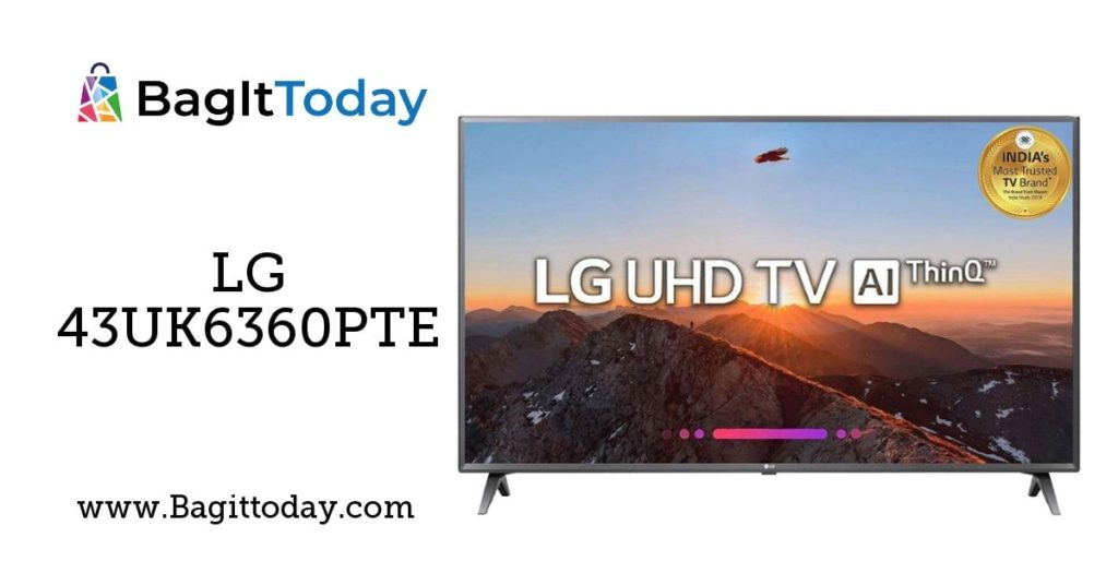 LG 108 cm 43UK6360PTE  4K UHD LED Smart TV Price In India And Full Specification